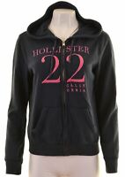 HOLLISTER Womens Hoodie Sweater Size 14 Large Navy Blue Cotton  MH11