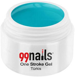 UV GEL One Stroke Gel - Türkis 5ml / UV LED Color Gel ! Made in Germany !