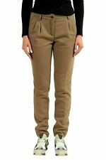 ca0db0dfd3767 Moncler Women's Brown SKINNY Pleated Casual Pants US 6 It 42