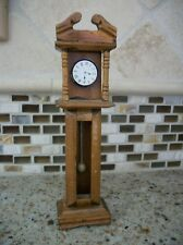 GRANDFATHER CLOCK FOR DOLL HOUSE WOODEN 6 INCHES