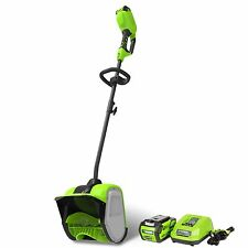 Greenworks 2600702 40V G-MAX 12-Inch Cordless Snow Shovel, W/ Battery & Charger