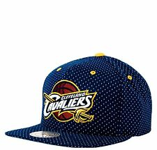 New NBA Mitchell & Ness - Cleveland Cavaliers - Navy Dotted Cotton Snapback Hat
