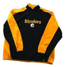 NEW NFL Reebok Pittsburgh Steelers 1/4 Zip Fleece Pullover Men's Size XXL Logo