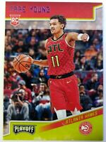 2018-19 Panini Chronicles Playoff Pink Trae Young Rookie RC #175, Atlanta Hawks