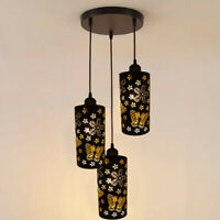 Modern 3 Way Ceiling Pendant Light Cluster Light Fitting pattern Lampshade