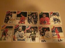 LOT OF 71 DIFFERENT AUTOGRAPHED 1978 OPC O-PEE-CHEE HOCKEY CARDS