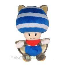 New Super Mario Bros.U TOAD MUSABI (S) blau Plüschfigur Flughörnchen100%Original