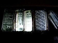 10 Ounce Johnson Matthey .999+ Fine Silver Bar 10oz. Sealed in Original Plastic