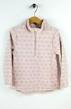 OLD NAVY Pink & White Fleece Pullover Jacket Geometric 1/4 Zip 5T