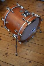 Yamaha Birch Custom Absolute 18 x 14 bass drum vintage natural silver badge