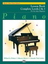 Alfred's Basic Piano Library: Piano Lesson Book, Complete Levels 2 & 3 for the L
