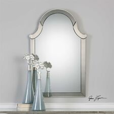 """MODERN ARCHITECTURAL 47"""" ARCHED WALL VANITY MIRROR BEVELED FRAME"""