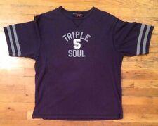 Vintage Triple 5 Soul T-Shirt Size XL Navy Blue Phat Farm Walker Wear Marc Ecko