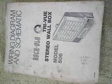 rockola jukebox machine service manual  model 506