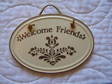 Pfaltzgraff VILLAGE Welcome Friends Plaque