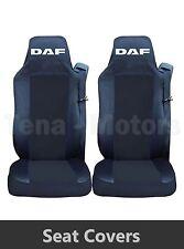 2 x DAF XF 105 105 CF LF Coprisedili Fatti su misura HGV Camion Furgone Nera /