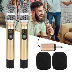 2Stk. 25 Kanäle UHF Funk Mikrofon Set Drahtlos Handmikrofon Microphone DR 09