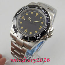 40mm Sterile Black dial Sapphire Glass MIYOTA 8215 Automatic Movement Mens Watch