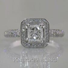 Diamond Ring Certificated  1.70ct D VVS2 Exc Princess Cut 18ct White Gold