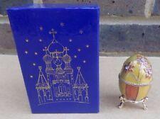 ATLAS EDITIONS Decorative Egg Enamel Trinket Box - Golden Garden