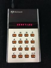 VINTAGE 1974 ROCKWELL 10R ELECTRONIC LED DISPLAY CALCULATOR, WORKS GREAT!!