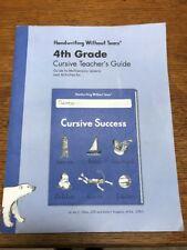 Handwriting Without Tears 4th Grade Cursive Teacher's Guide - Cursive Success, J