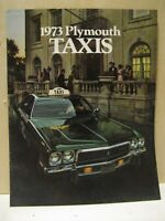 1973 73 NOS PLYMOUTH SATELLITE FURY TAXI CAB SALES BROCHURE TAXICAB