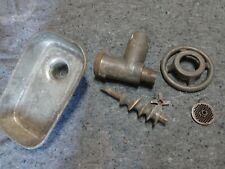 Vintage Hobart Size 12 Meat Grinder Attachment Cast Iron Htf