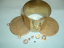 "Model Hit and miss Gas engine Brass Fuel Tank Kit 3-1/2"" Diameter"