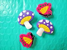 Clog Shoe Plug Button Charm Fit Belt WristBand Accessorie Butterfly