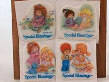 Vintage 1994 2 Sets of 4 Puffy Special Blessings Stickers.