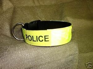 POLICE K9 DOG TRAINING 2IN COLLAR  SCHUTZHUND CUSTOM MADE FOR YOU SIZE COLOR ETC