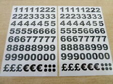 9.5mm Rub-On Black Number Transfers, 'Letraset type' for Art & Craft, BL75