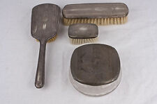 """Antique 4 Piece Sterling Silver Grooming Set  """"International Sterling"""" 1900-1940"""