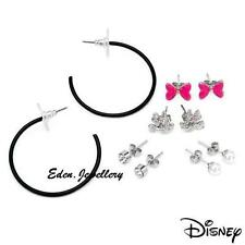 Original Disney MINNIE MOUSE 5 Set Earrings Bow Crystal Faux Pearl Brand New
