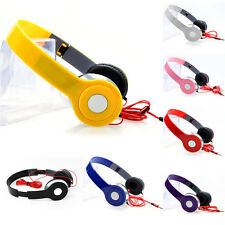 Plegable Estéreo DJ 3.5mm Diadema Auriculares Juego CERRADO PARA MP3/4 iPhone