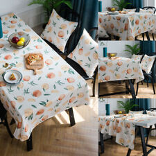 Waterproof Tablecloth Table Cover Cloth Fruit Print Rectangle Party Dinner Decor