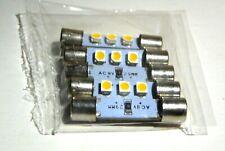 8V 20MA FUSE TYPE LAMPS LOT OF 5 WARM WHITE KENWOOD MARANTZ SANSUI SONY OTHERS