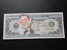 Bono $1 Million Dollar Note Bill Novedad $1000000 Paul David Hewson músico U2