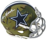 Roger Staubach Signed Dallas Cowboys CAMO Riddell Speed Mini Helmet - SS COA