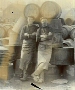 Cabinet Card Photo Men Workers Brewery Barrels Flat Caps Boughton Great Yarmouth