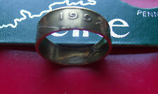 1992 Irish Brass Coin Ring Size 11, Other years available, Sizable, 7mm tall