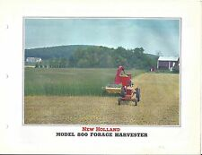Farm Equipment Brochure - New Holland - 800 - Forage Harvester - 1956 (F5708)