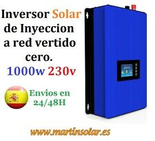Inversor Solar Inyección a red vertido cero, 1000w 230v, Mppt 22 a 65v.