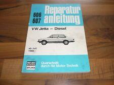 VW JETTA I 1,6 Diesel 1980- Motor Getriebe Fahrwerk Elektrik WERKSTATT HANDBUCH
