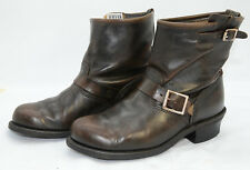 FRYE Women's Engineer 8R Ankle Boot Sz 9 Biker Riding Work Leather Brown Booties