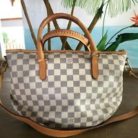 Authentic Louis Vuitton Purse Riviera PM Damier Azur w Dust Bag FREE SHIPPING