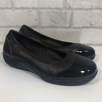 EUC Gravity Defyer Jenda Brown Leather Slip On Pain Relief Shoes Sz 7 (J11)