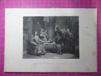 Antique 1880 Engraving SEIZURE OF CHARLES I AT HOLDENBY English Civil War
