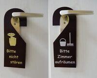 Edler Türhänger PU Leder bordeaux Türschild Bitte nicht stören Zimmer aufräumen